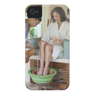 Woman getting a footbath at a spa in Mexico. iPhone 4 Case