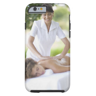 Woman getting a massage tough iPhone 6 case