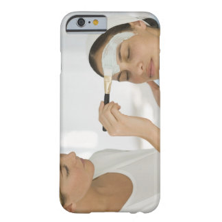 Woman getting beauty mud mask barely there iPhone 6 case