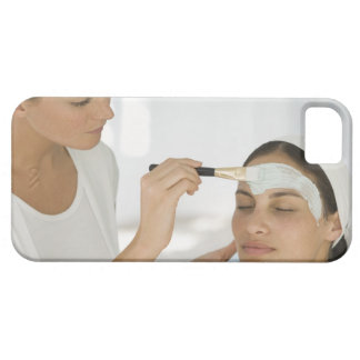 Woman getting beauty mud mask iPhone 5 cover
