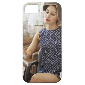 Woman Getting Manicure iPhone 5 Cover