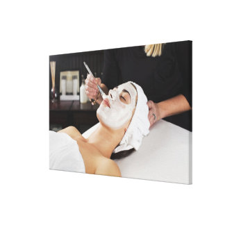 Woman Getting Spa Treatment. Gallery Wrapped Canvas