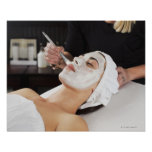 Woman Getting Spa Treatment Poster