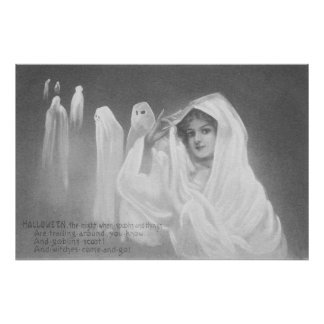 Woman Ghost Costume Trick Or Treat Art Photo