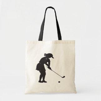 Woman Golfer Budget Tote Bag