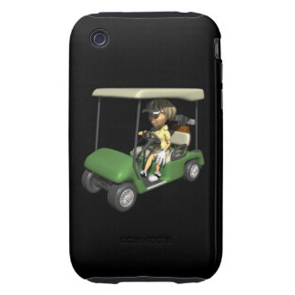 Woman Golfer Cart iPhone 3 Tough Cover