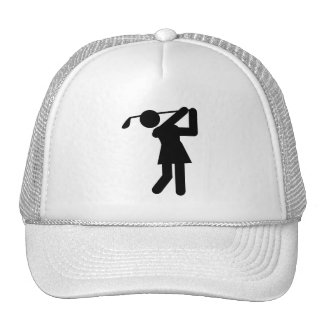 Woman Golfer - Golfing Symbol Mesh Hat