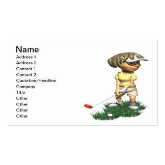 Woman Golfer Pack Of Standard Business Cards