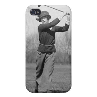 Woman Golfing, 1920s Cases For iPhone 4