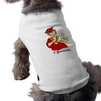 Woman Graduate Red Gown Dog T-shirt
