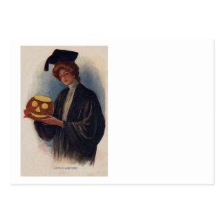 Woman Graduation Halloween Jack O' Lantern Pack Of Chubby Business Cards