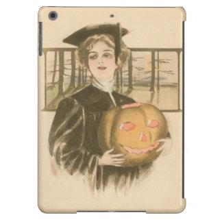 Woman Graduation Jack O' Lantern Pumpkin Case For iPad Air