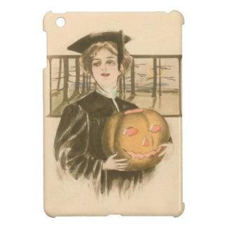 Woman Graduation Jack O' Lantern Pumpkin iPad Mini Cases