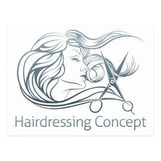 Woman Hairdresser Scissor Concept Postcard