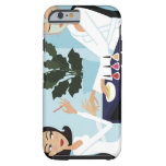 Woman having manicure and facial at spa tough iPhone 6 case