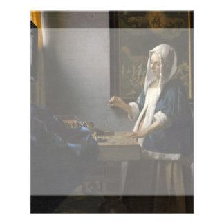 Woman Holding a Balance by Johannes Vermeer 11.5 Cm X 14 Cm Flyer