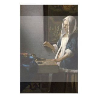 Woman Holding a Balance by Johannes Vermeer Flyers