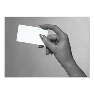 Woman Holding Card 13 Cm X 18 Cm Invitation Card