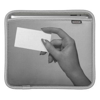 Woman Holding Card iPad Sleeve