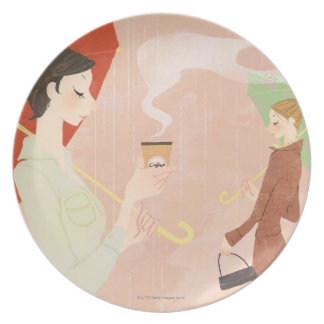 Woman Holding Coffee Plate