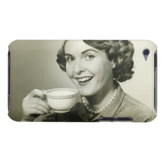 Woman Holding Cups Barely There iPod Covers