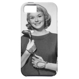 Woman Holding Golf Club Case For The iPhone 5