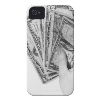Woman Holding Money iPhone 4 Covers