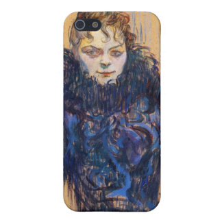 Woman in a black boa by Toulouse-Lautrec iPhone 5 Cover