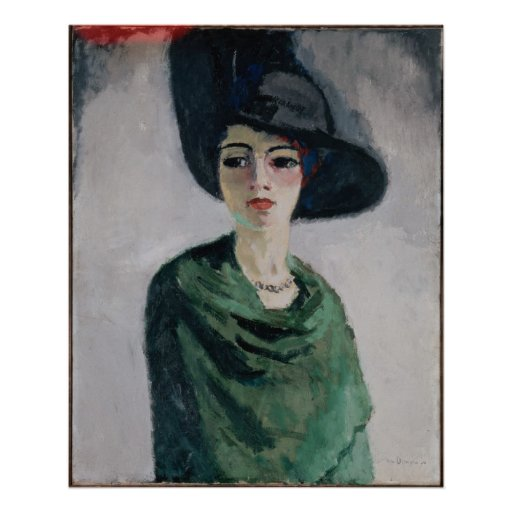 Woman in a Black Hat Poster