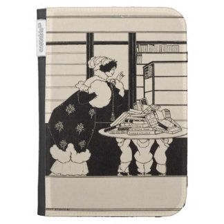Woman in a Bookshop design for a Yellow Book co Kindle 3G Case
