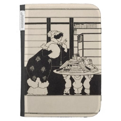 Woman in a Bookshop, design for a 'Yellow Book' co Kindle 3G Case