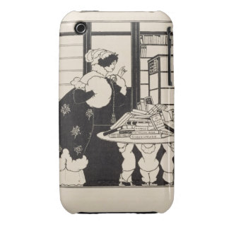 Woman in a Bookshop, design for a 'Yellow Book' co iPhone 3 Cases