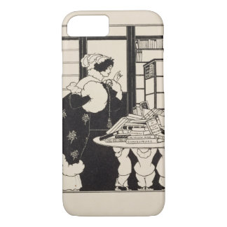 Woman in a Bookshop, design for a 'Yellow Book' co iPhone 7 Case