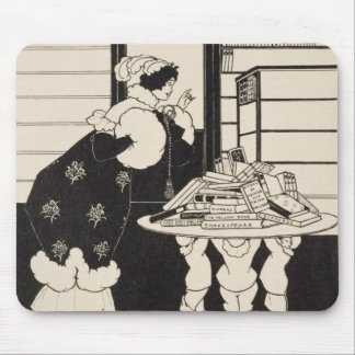 Woman in a Bookshop, design for a 'Yellow Book' co Mouse Pad