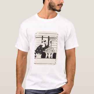 Woman in a Bookshop, design for a 'Yellow Book' co T-Shirt