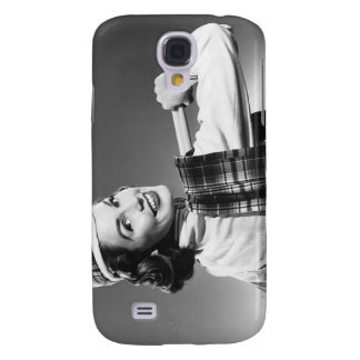 Woman in a Cap Galaxy S4 Case