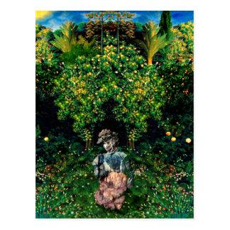 Woman in a Garden Postcard