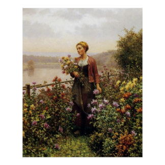 Woman in a Garden Posters