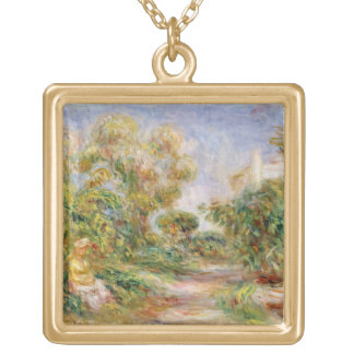 Woman in a Landscape, c.1918 (oil on canvas) Necklace
