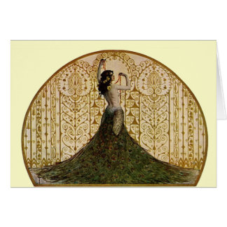 Woman in a Peacock Skirt Card