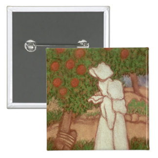 Woman in a White Dress, 1896 15 Cm Square Badge