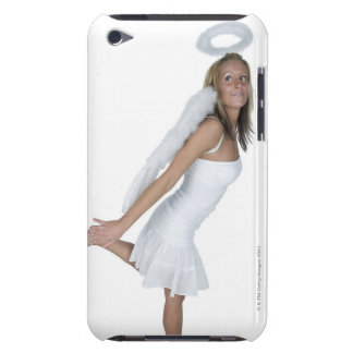 Woman in angel costume barely there iPod cover