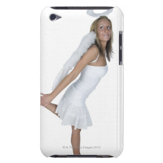 Woman in angel costume iPod touch case