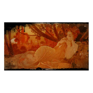 Woman in Autumn Leaves Pack Of Standard Business Cards