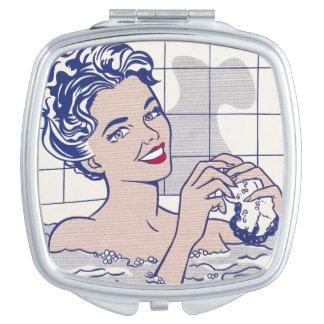Woman in Bath - Lichtenstein - Vintage Pop Art Makeup Mirrors