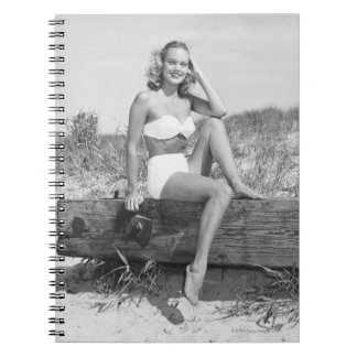 Woman in Bikini Notebook