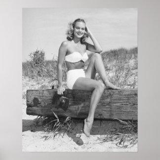 Woman in Bikini Poster