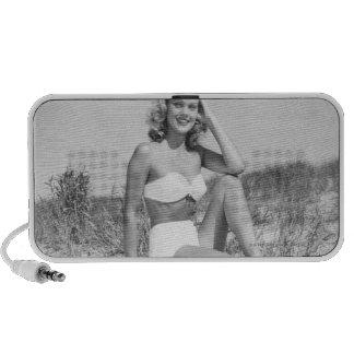 Woman in Bikini Notebook Speaker