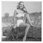 Woman in Bikini Tile