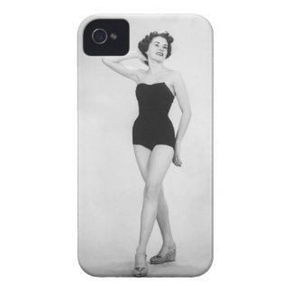 Woman in Black Corset iPhone 4 Covers